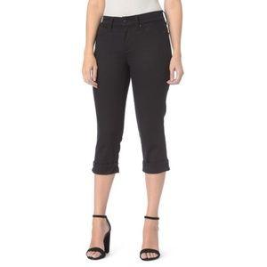 NYDJ Marilyn Crop Jeans M77Z2108 Black Size 14